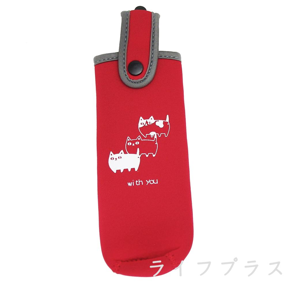 【一品川流】日本進口 保溫瓶袋-適用200ml-紅色