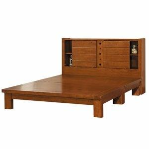 【時尚屋】原木樟木色6尺加大雙人床078-6+078-7(床頭+床架)