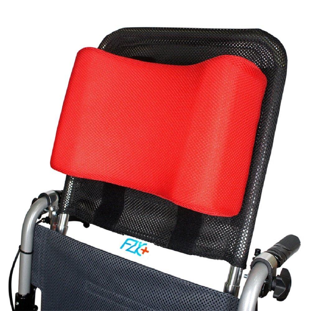 【富士康】輪椅頭靠組 (頭靠可調高度與角度 頭靠枕紅色)