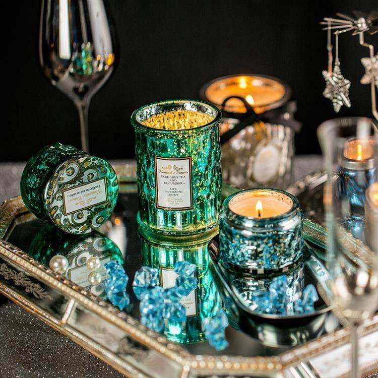 買2送1精油香薰蠟燭杯無煙香氛安神助眠熏香蠟燭凈化空氣伴手禮盒