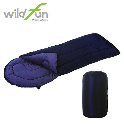 WildFun 野放加大型舒適睡袋 深藍