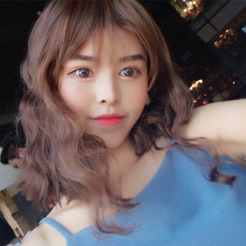【米蘭精品】中長假髮整頂假髮-俏麗捲髮逼真修臉女假髮4色73vl41