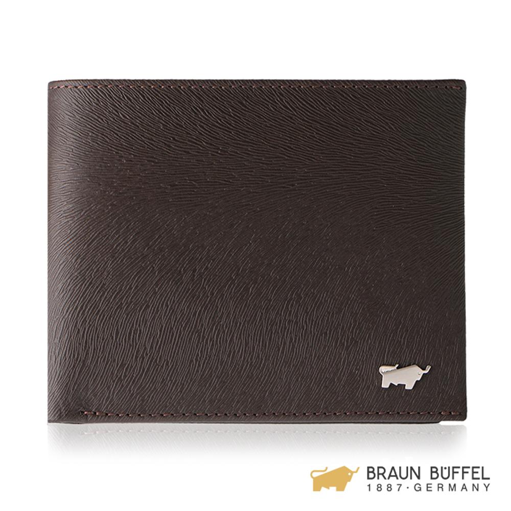 BRAUN BUFFEL 提貝里烏斯-II系列8卡皮夾 -咖啡色 BF348-313-ENY
