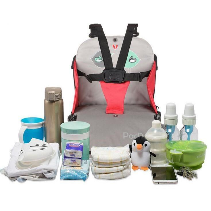 一件免運 寶餐椅包 嬰兒外出吃飯便攜式可折疊儲物增高 兒童餐椅 座椅 寶媽包 單 雙肩外出餐