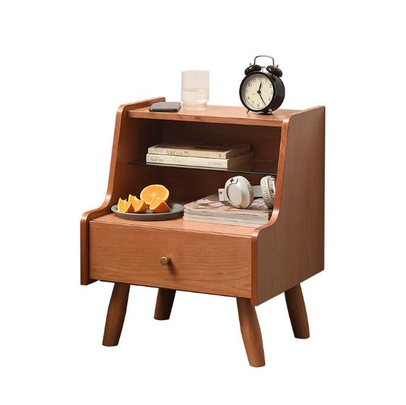 收納櫃 置物櫃 收納櫃 儲物櫃 櫃子 床頭櫃 簡約現代北歐實木床頭櫃子 臥室 簡易床邊櫃免安裝儲物櫃