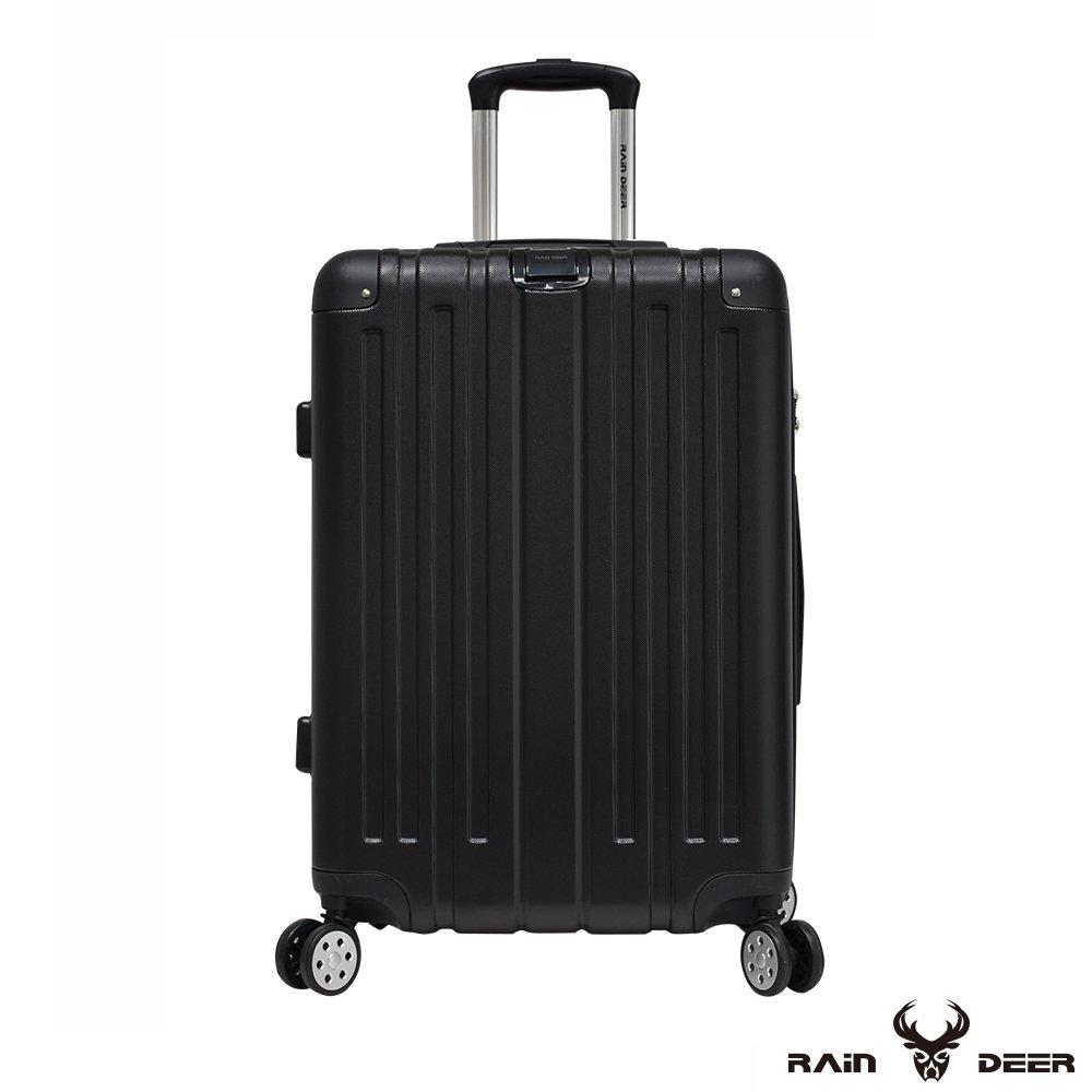 【RAIN DEER】克萊爾28吋ABS鑽石紋防刮行李箱-經典黑