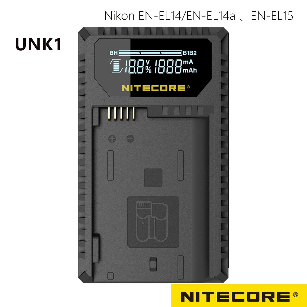 Nitecore UNK1 液晶顯示充電器 FOR NIKON EN-EL14+EN-EL15