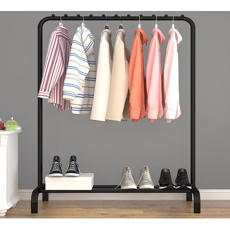 一件免運 簡易衣帽架晾衣架落地室內折疊挂衣架子家用臥室衣服收納置物架櫃