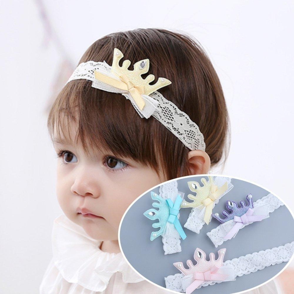 UNICO 韓版 兒童進口蕾絲皇冠造型髮帶