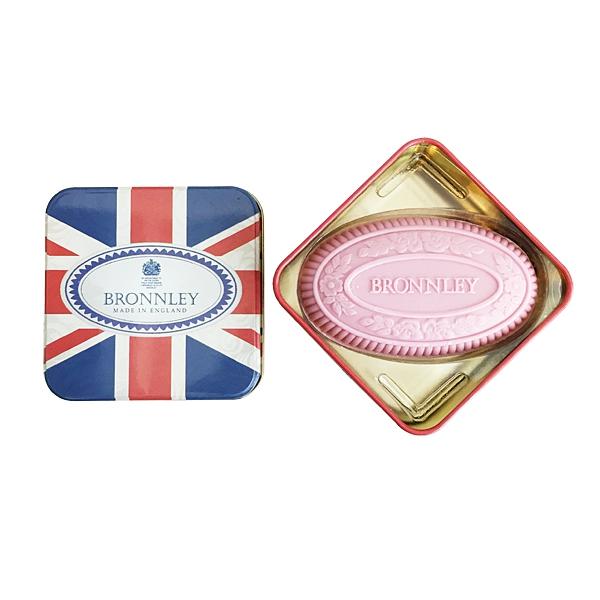 英國皇室御用 Bronnley 英倫風造型鐵盒香皂 Pink Bouquet 粉紅花束香