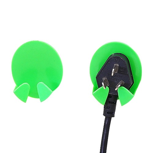 黏貼式電源線插頭掛鉤插頭支架收納(2入組) 不挑色掛勾/插頭掛勾/插頭支架