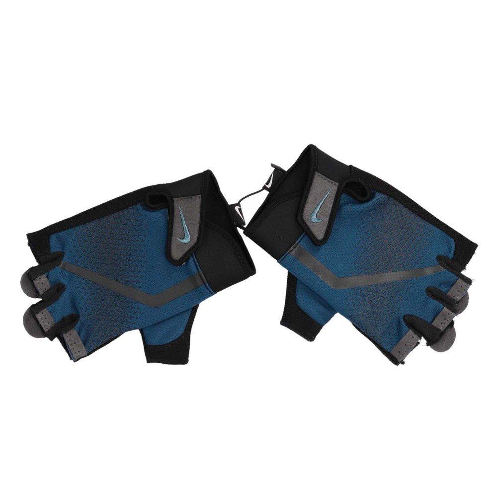 NIKE 手套 Extreme Lightweight 男款 健身 重訓 自行車 多功 掌心加厚 一雙入 藍黑 [N0000004-486]
