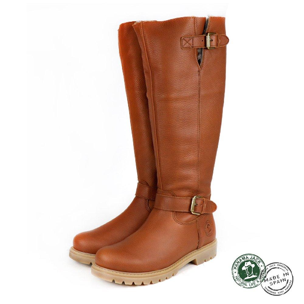 【Panama Jack】Amberes Igloo 西班牙進口及膝高筒靴/長靴  棕色(P8836W-CUE)