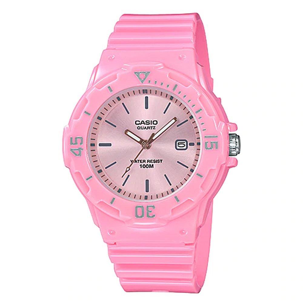 【CASIO 卡西歐】指針錶 橡膠錶帶 防水100米 (LRW-200H-4E4)