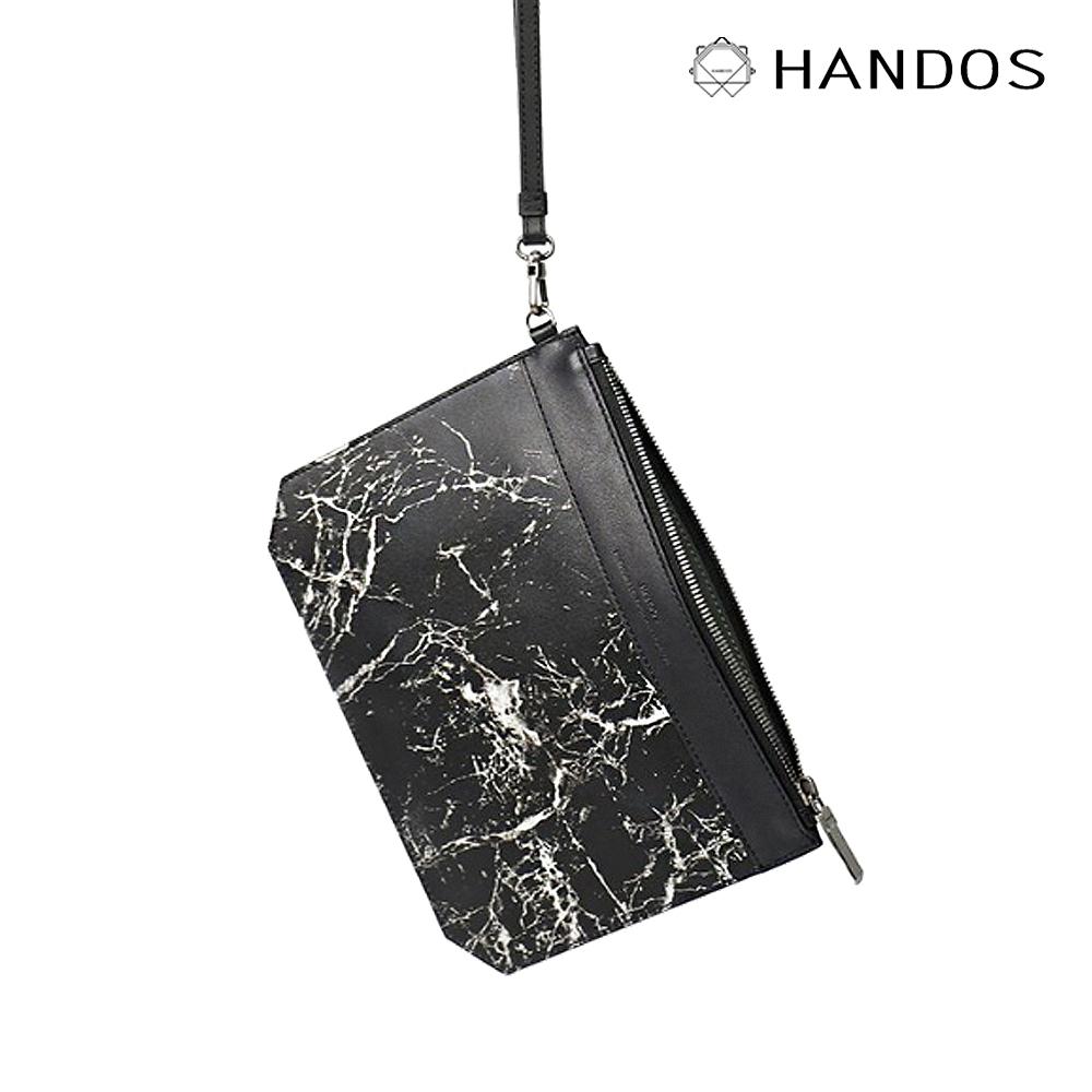 HANDOS|Elise 大理石紋皮革手拿包