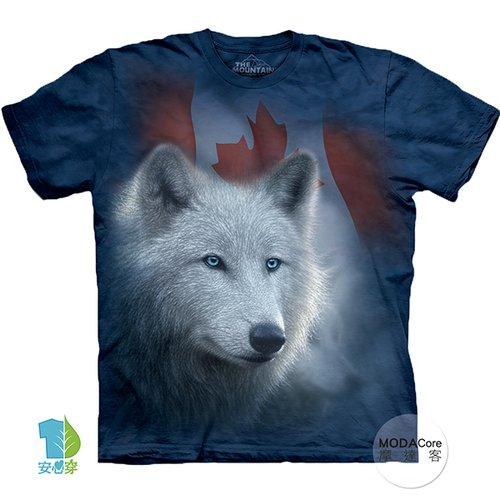【摩達客】美國進口The Mountain 加拿大白狼 純棉環保藝術中性短袖T恤-預購