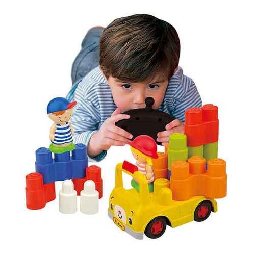 《K's Kids奇智奇思》遙控安全積木校車
