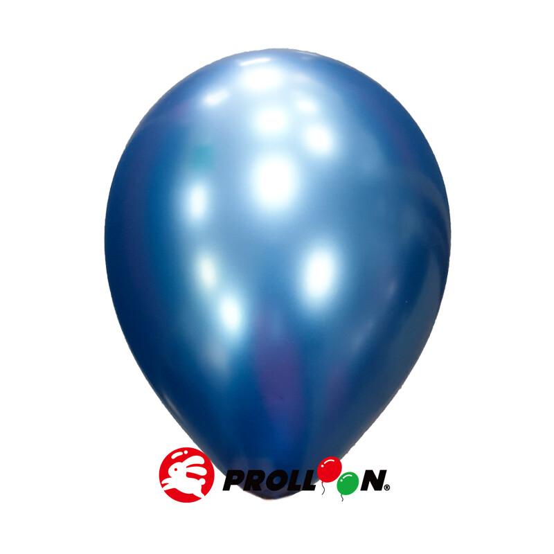 大倫氣球12吋金屬色 圓形氣球  100顆裝 藍色 台灣製造 安全無毒