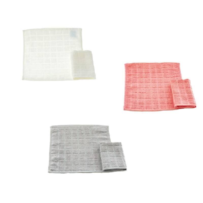 台灣興隆毛巾方格超吸水手帕巾 3入單色