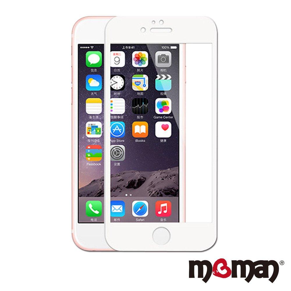 Mgman iPhone6/6s (4.7) 3D曲面滿版碳纖維軟邊玻璃保護貼