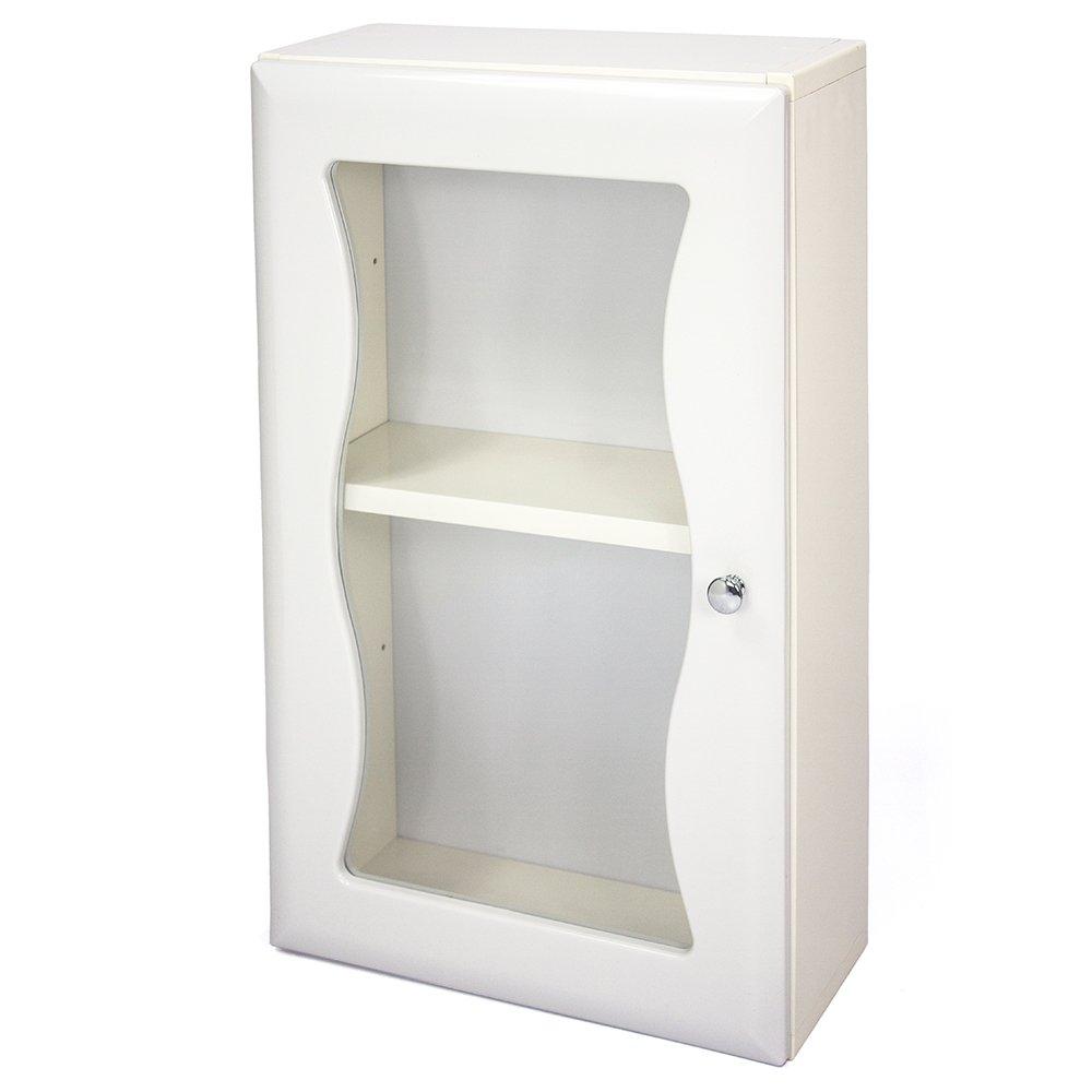 Aaronation - 時尚造型塑鋼單門浴櫃 - GU-C1010W