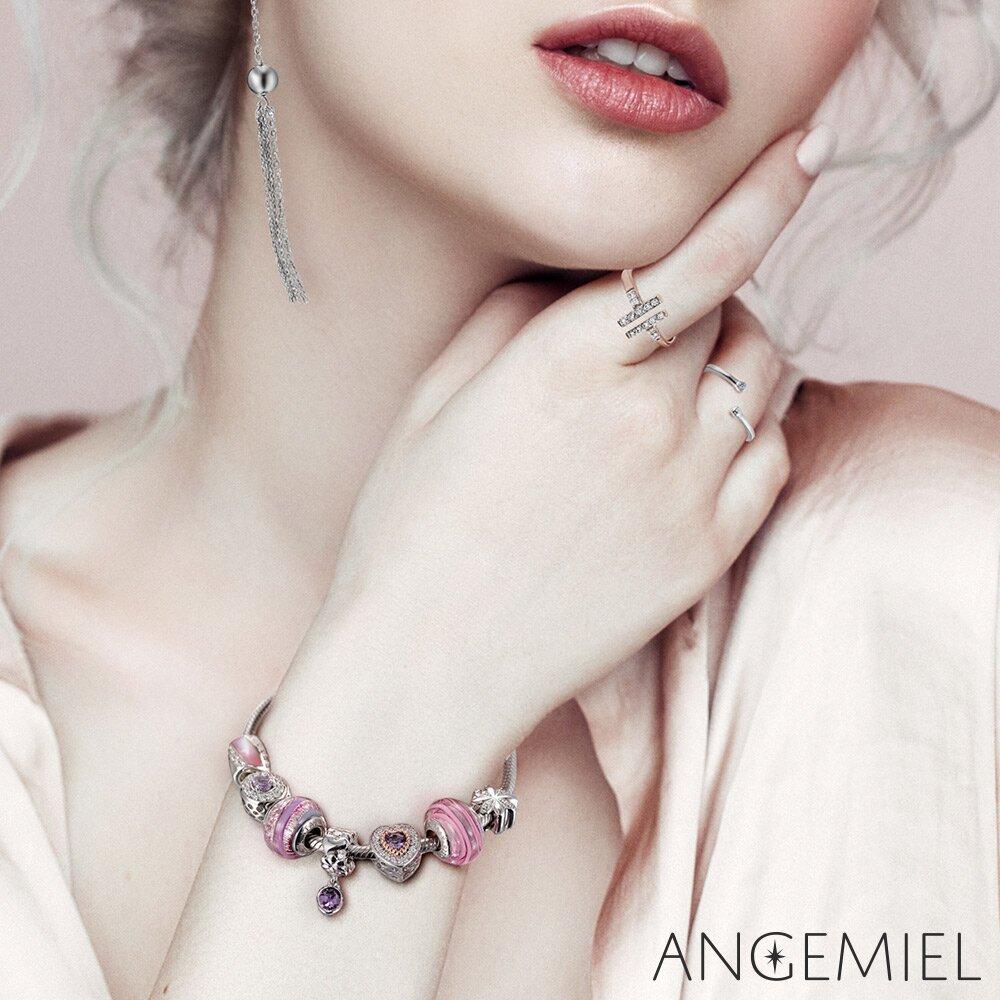 Angemiel 安婕米 義大利純銀珠飾 晶瑩紅顏 琉璃珠