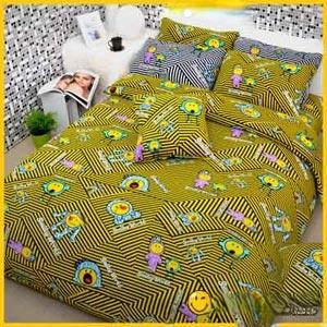 【Smiley World】《餅乾怪獸Cookie Monster》雪芙絨雙人床包三件組《黑黃配》