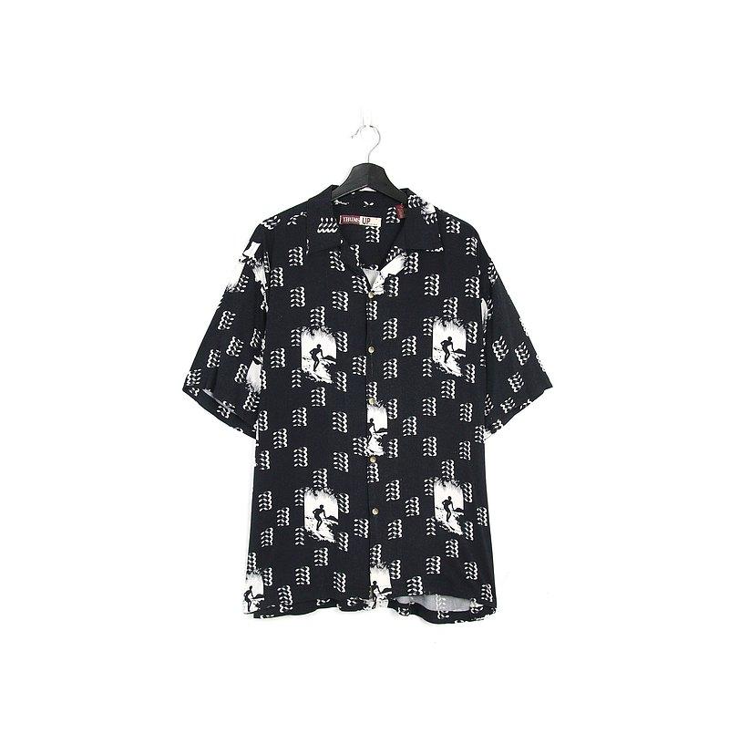Back to Green- 深色系短袖襯衫 衝浪 /vintage shirts
