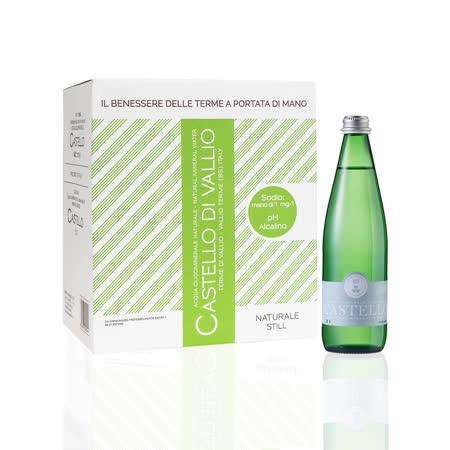 【CASTELLO 卡司得洛】天然礦泉水 500ml*6瓶/箱 (義大利原裝進口)