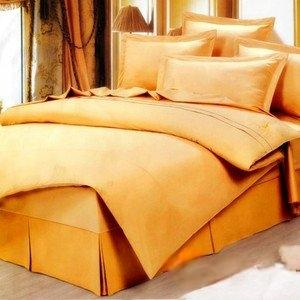 【幸運草-金黃原漾】雙人四件式貢緞純棉被套床包組