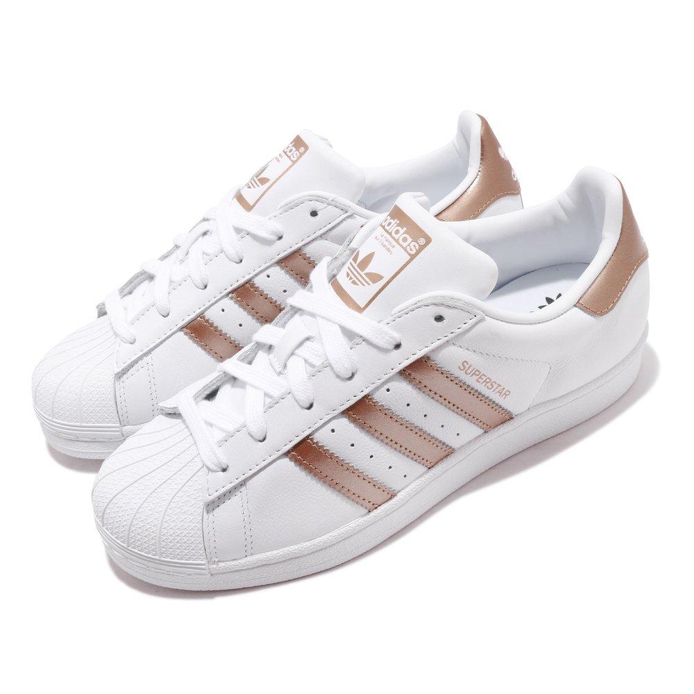 ADIDAS 休閒鞋 Superstar 低筒 運動 女鞋 愛迪達 經典款 貝殼頭 簡約 穿搭 白 棕 [EE7399]