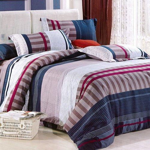 【Indian】印花雙人床包兩用被組--時尚