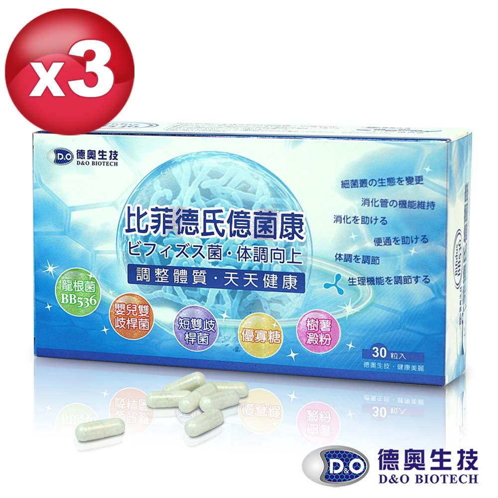 德奧日本森永比菲德氏億菌康x3 盒(30粒/盒)