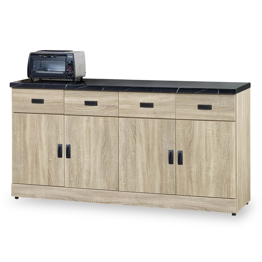 【時尚屋】[G18]克莉斯多原切橡木5.3尺碗盤櫃G18-309-5免組裝/免運費/碗盤櫃組