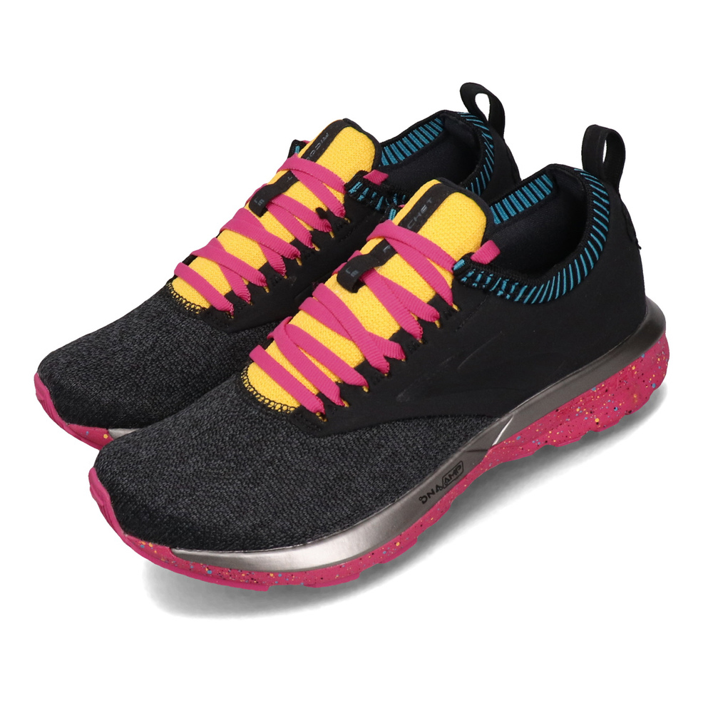 BROOKS 慢跑鞋 Ricochet LE 運動休閒 女鞋 輕量回彈 BioMoGo DNA緩震科技 黑 粉 [1202921B016]