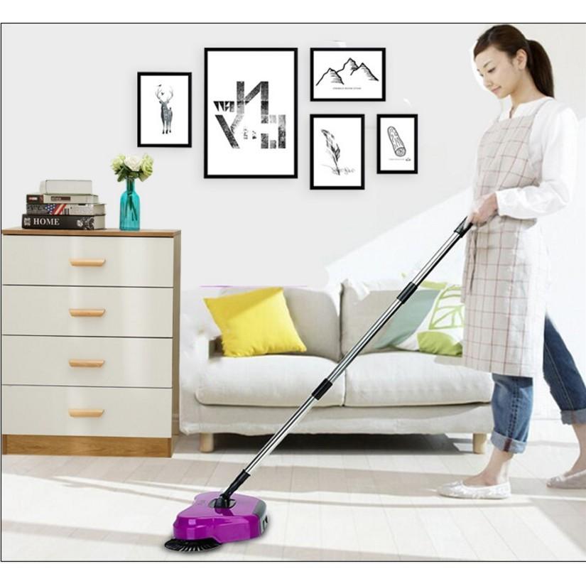 懶人掃地機手推式家用吸塵器 臥室書房一掃光拖地一體機掃地笤帚掃帚掃把簸箕套裝無線不用電 不彎腰 掃拖