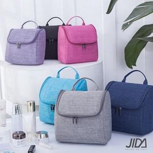 【韓版】簡約質感可懸掛大容量化妝包/盥洗包藏青色