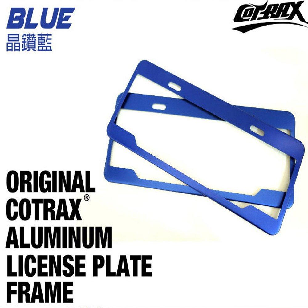 Cotrax新式7碼美式鋁合金車牌框-晶讚藍