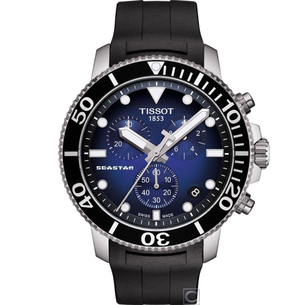 TISSOT 天梭 Seastar 1000 海洋之星 計時潛水男錶 T1204171704100