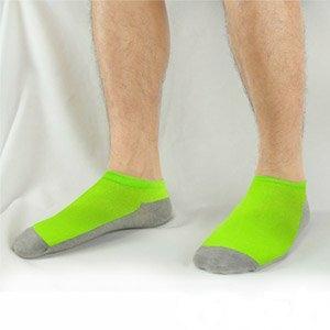 源之氣 竹炭鮮彩船型襪 亮綠 男女適穿 6雙 組 RM-30008-1