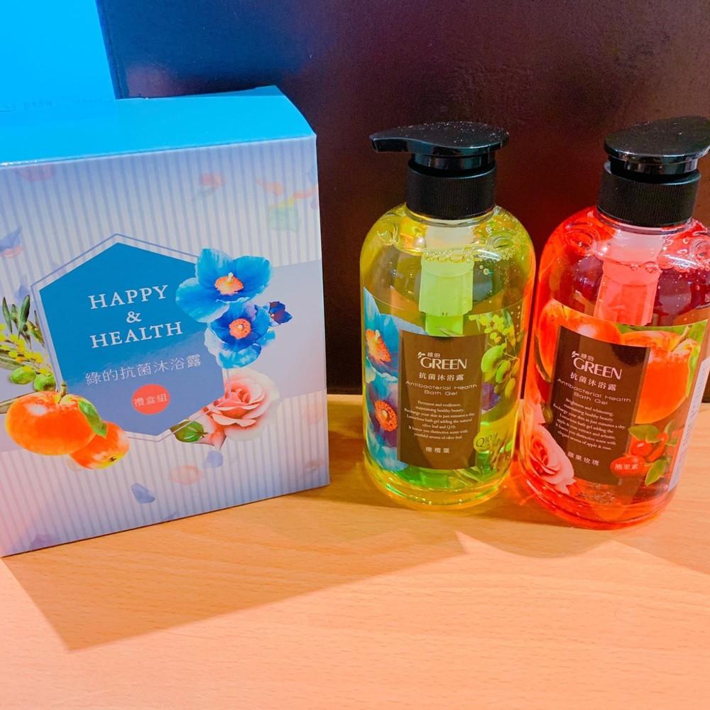 綠的 抗菌沐浴露 禮盒組 蘋果玫瑰 橄欖葉 抗菌沐浴露 抗菌沐浴乳 500ml 兩入