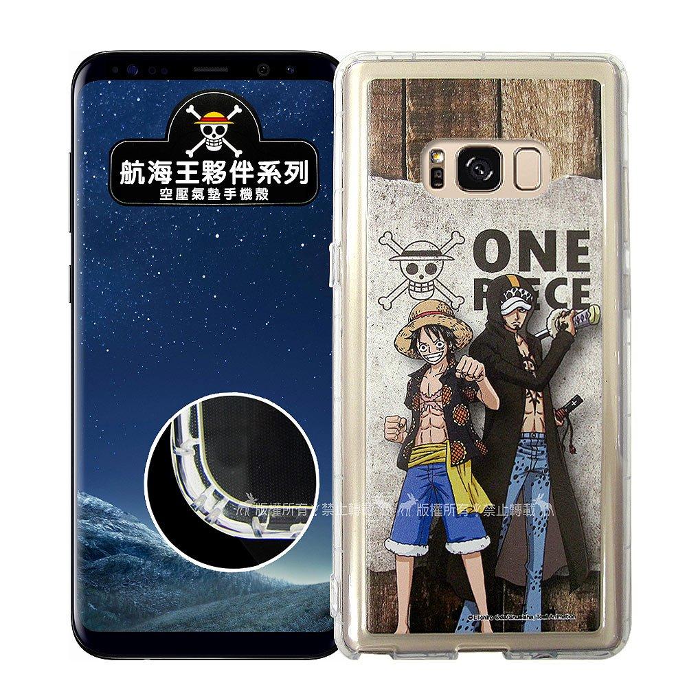 航海王夥伴系列 Samsung Galaxy S8+/S8 Plus 透明軟式空壓殼(魯夫&羅)
