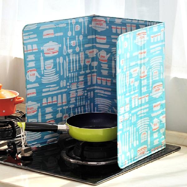 創意家用廚房煤氣灶臺擋油板隔油鋁箔擋板炒菜隔熱耐高溫防油防濺