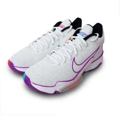 NIKE 籃球鞋 緩震 包覆  運動鞋 男鞋 白紫 CT1498100 ZOOM RIZE 2 EP