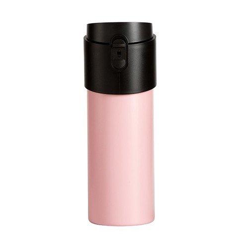 【PO:Selected】丹麥掀蓋12oz保溫泡茶杯(粉-黑蓋)