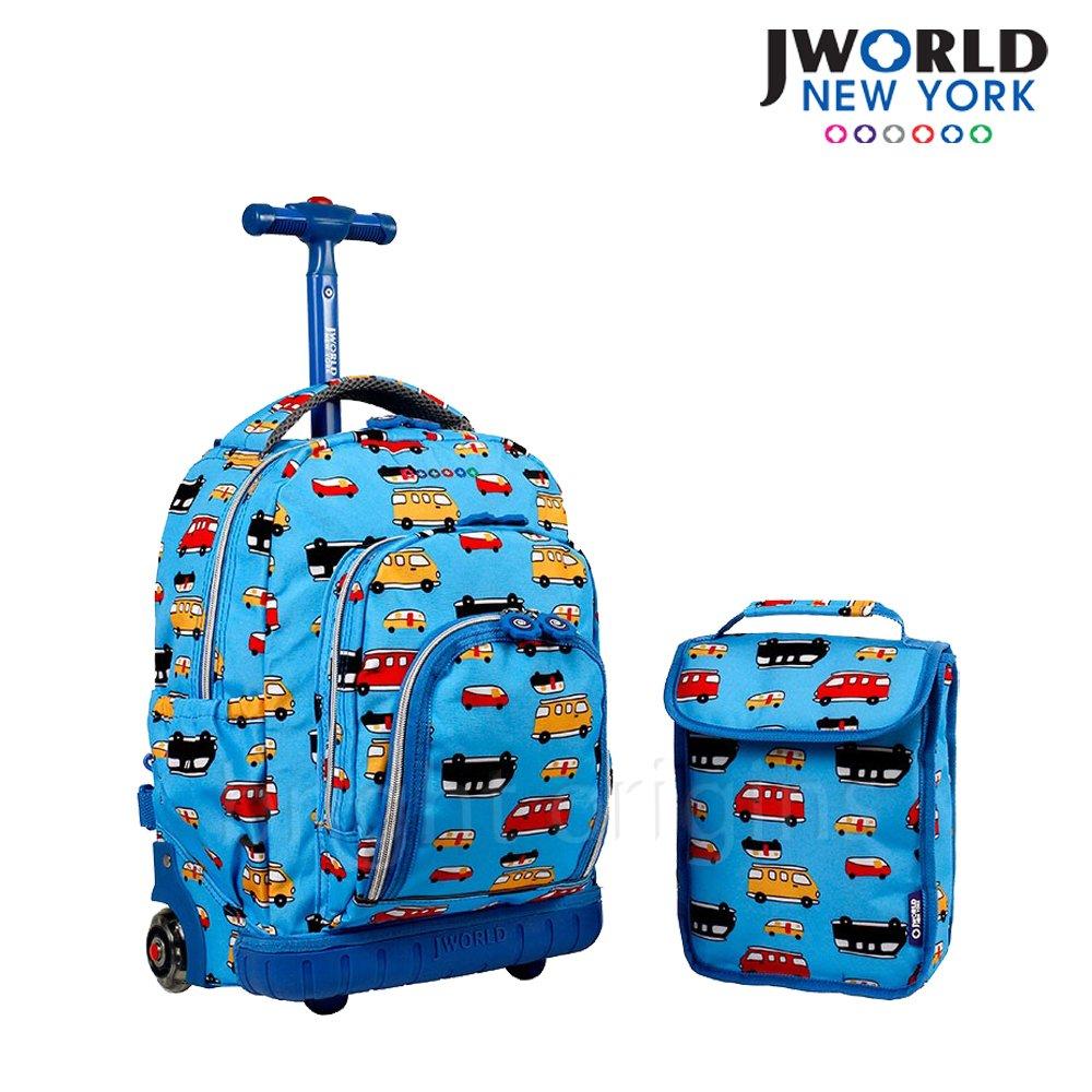 JWorld 拉桿後背兩用書包旅行箱(迷你汽車)