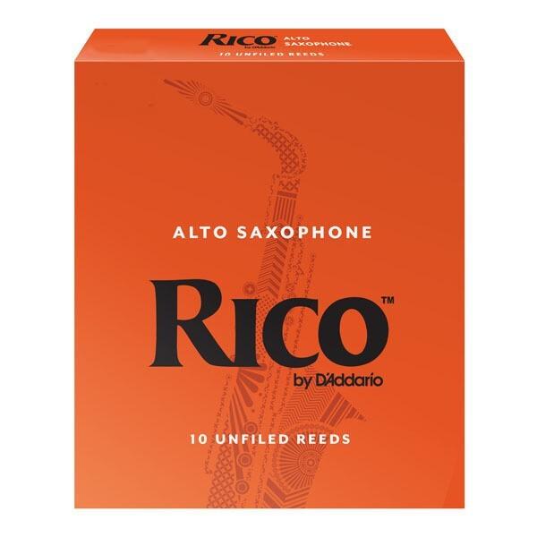 rico alto 中音薩克斯風竹片 2號/2.5號/3號/3.5號 (10片/盒)橘包裝 唐尼樂器