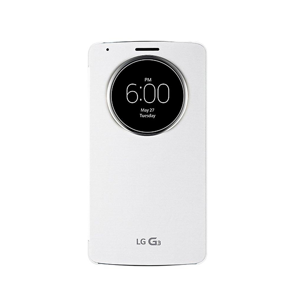 LG G3 D855 原廠視窗感應式皮套 白色/ 支援無線充電 (台灣公司貨)