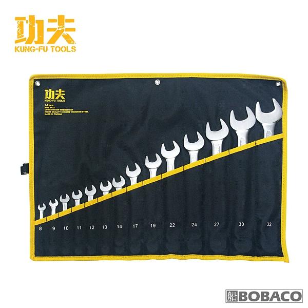 功夫【梅開扳手組-14支組 / 8-32】台灣製扳手 五金工具 專業手工具 扳手套組 板手 手工具扳手