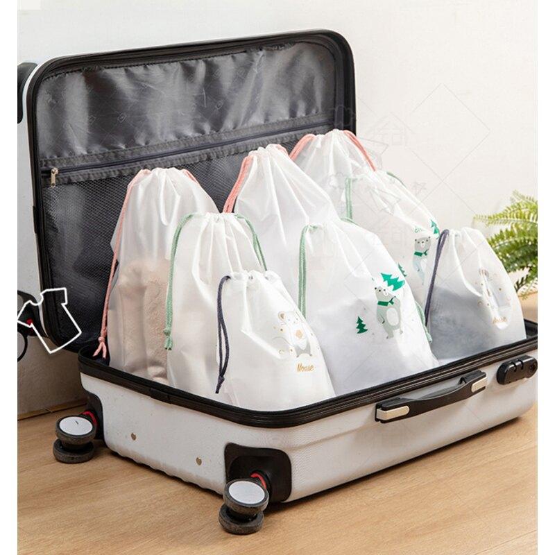 6入組-新款旅行大容量磨砂防水防塵束口收納袋/1組6入-2大 / 2中 / 2小l【優廚寶】